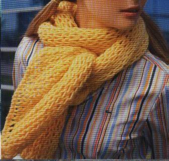 Cómo hacer bufandas de punto a dos agujas