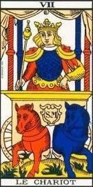 Carta del Arcano Mayor El Carro del Tarot