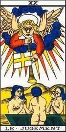 Carta del Arcano Mayor El Juicio del Tarot