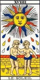 Carta del Arcano Mayor El Sol del Tarot