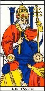 Carta del Arcano Mayor El Sumo Sacerdote del Tarot