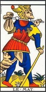Carta del Arcano Mayor El Loco del Tarot