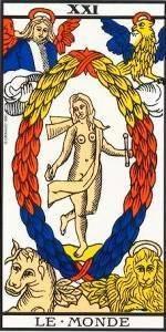 Carta del Arcano Mayor El Mundo del Tarot