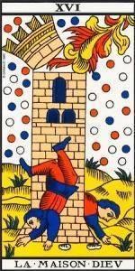 Carta del Arcano Mayor La Torre del Tarot