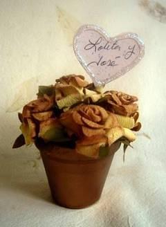 Arreglos florales como souvenirs de boda