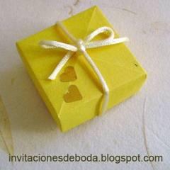 Cajitas de origami como recuerdos de boda