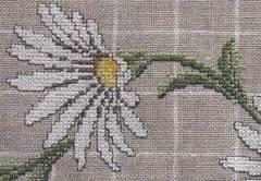Diseños de flores en punto cruz