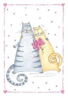 Invitaciones para una boda temática de gatos