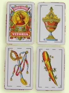 Arcanos menores: cartas de los ases de la baraja española