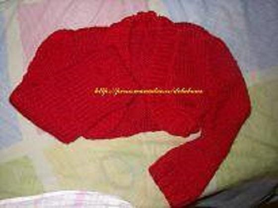 Chaqueta de mujer tejida a dos agujas