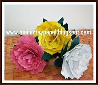 Plantillas De Flores Para Imprimir Claveles En Papel Artesanal