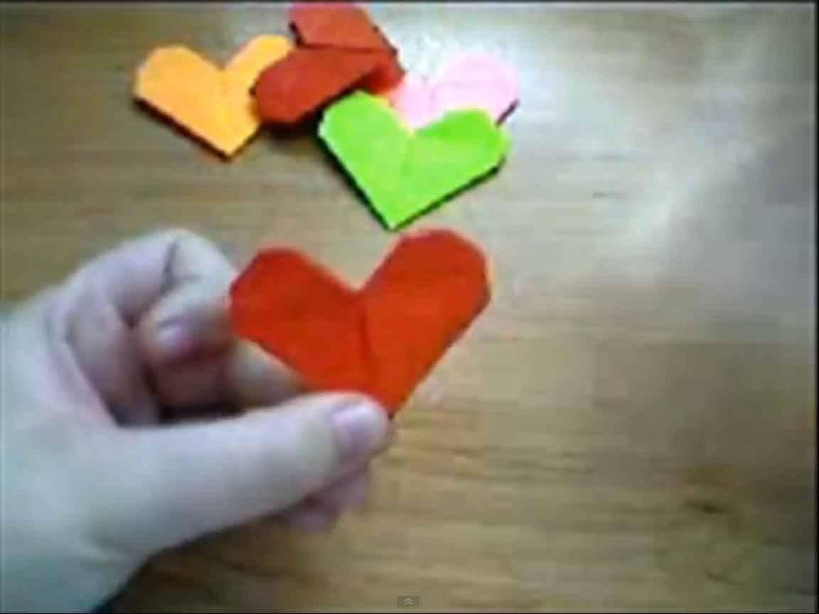 Pasos para hacer un corazón de origami :: Pasos para hacer una figura