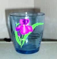 Decoupage sobre vidrio