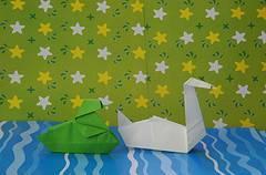 Figura de cisne de origami