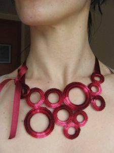 Collares de abalorios tejidos a crochet