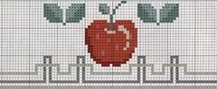 Frutas punto de cruz