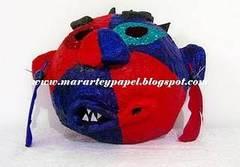 Máscara de niños para colorear