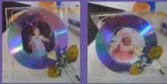 retrato para fotos con cd