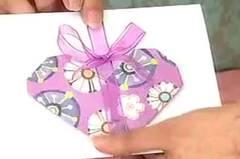 Tarjeta corazón origami