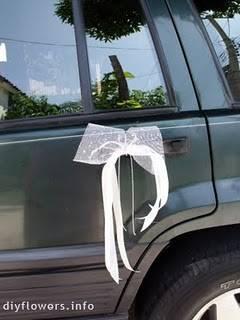 Decoraci n del coche para la boda c mo decorar el coche de los novios - Decoracion coche novia ...