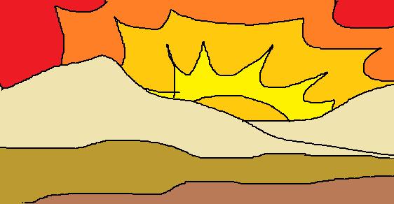 Dibujos Bonitos De Colores: Dibujos En Colores Calidos. Simple En La Primera Usa Slo