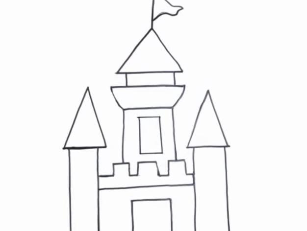 Cómo Dibujar Castillos Fáciles Para Colorear Con Crayolas