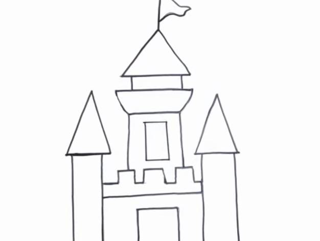 C mo dibujar castillos f ciles para colorear con crayolas for Dormitorio para dibujar facil