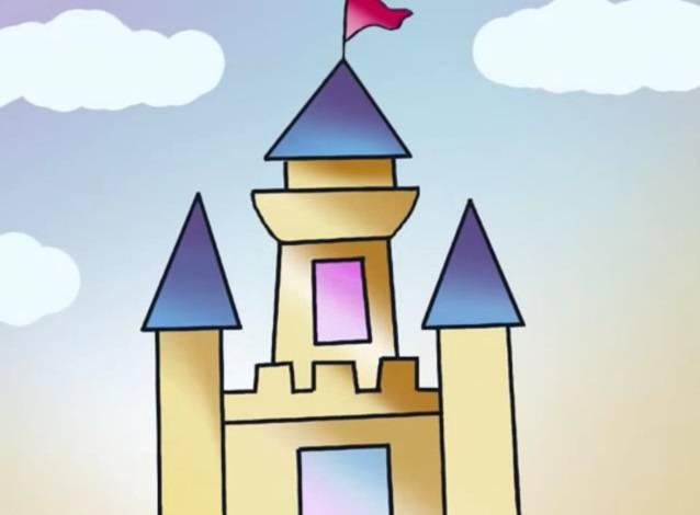 Cómo dibujar castillos fáciles para colorear con crayolas ...