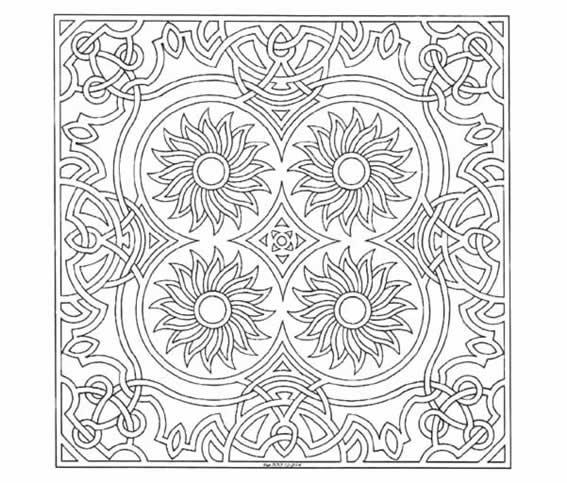 5 dibujos de mandalas para colorear :: Imágenes de mandalas para pintar