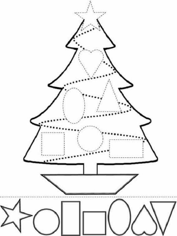 Dibujos de Navidad para pintar e imprimir  Dibujos de la Navidad