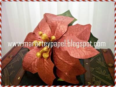 Cómo reciclar cartón para hacer una flor de Navidad :: Flores de ...