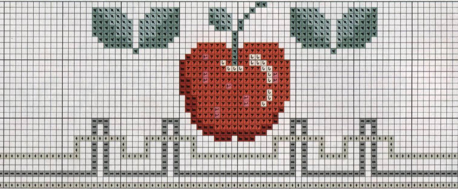 Dibujos de frutas bordadas a punto cruz dise os de figuras de frutas en punto de cruz - Videos de punto de cruz ...
