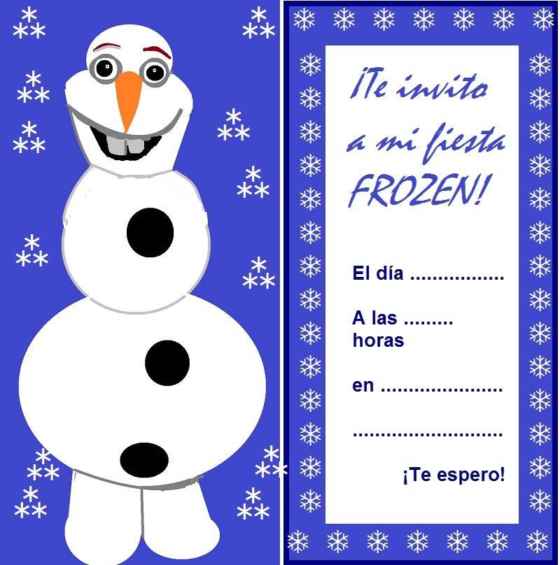 Invitaciones De Cumpleaños Infantiles De Frozen Diseños Con