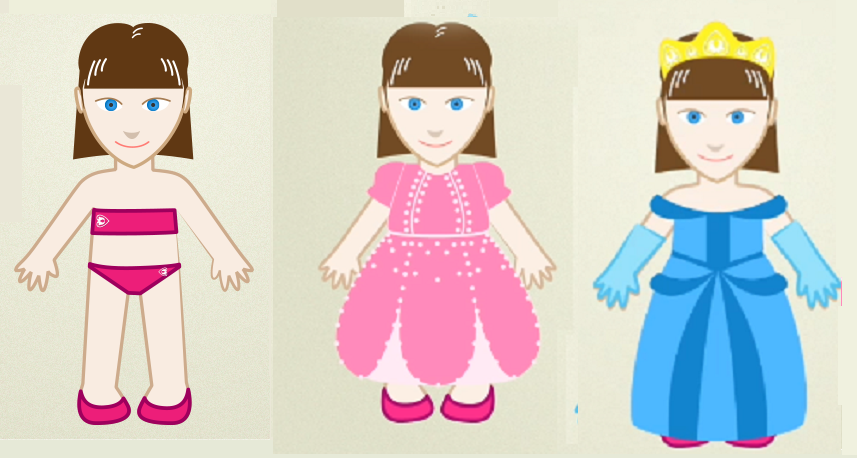 Juegos de vestir princesas y hadas para imprimir y jugar ...