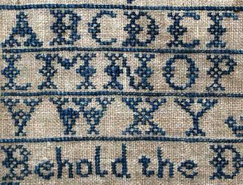 Patrones de letras a punto de cruz en 5 pasos gr ficos de letras en punto de cruz paso a paso - Labores en punto de cruz ...