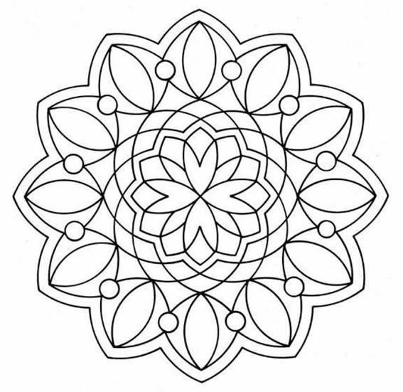 Imágenes de mandalas para imprimir :: Dibujos de mandalas para colorear