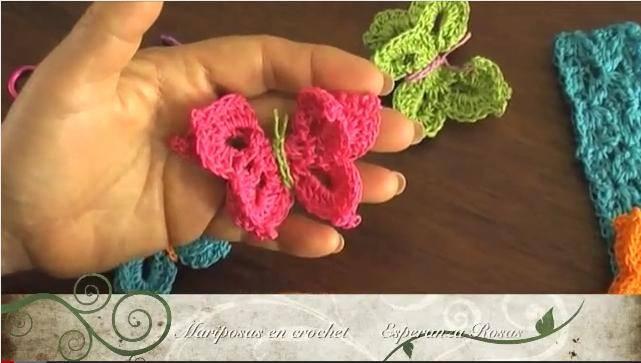 Como se hace una mariposa en ganchillo c mo hacer - Hacer flores de ganchillo ...