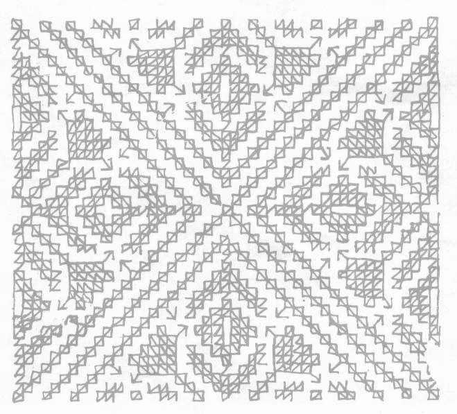 Diseños para bordar alfombras marroquíes :: Alfombras en punto ...