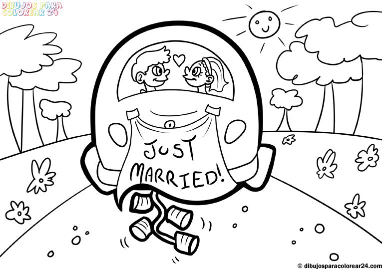 5 dibujos divertidos de novios para tarjetas de boda  Dibujos de