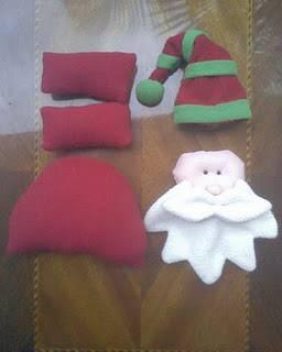 C mo hacer un pap noel de tela para colgar en navidad con for Hacer papa noel grande