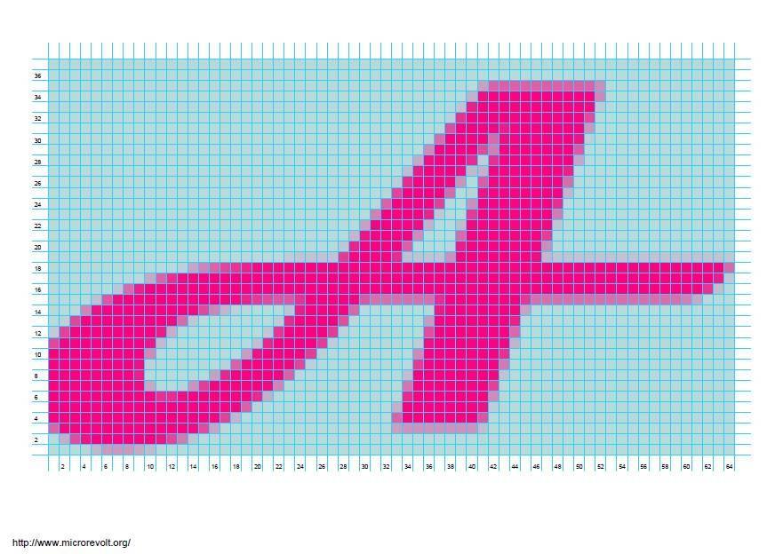 Patrones de letras a punto de cruz en 5 pasos :: Gráficos de letras ...