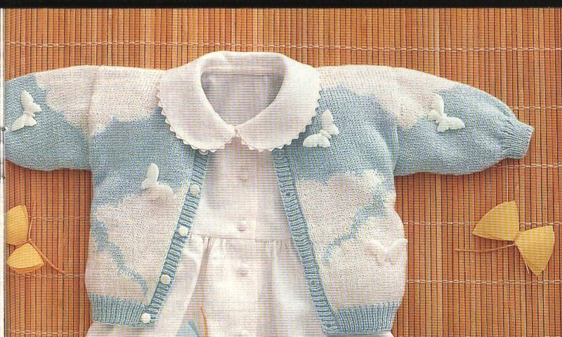 Patrones para tejer ropa de bebés    Patrones de tejido a dos agujas ... acd9e17fd1ee