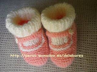 Cosas bonitas tejidas para tu beb c mo tejer unos - Como hacer talon de calcetines de lana ...