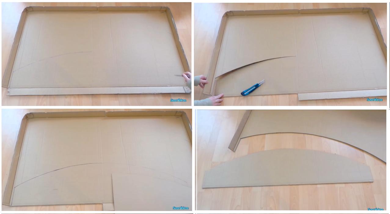 Mueble escritorio de cartón paso a paso, por Isa de elmundodeisa ...