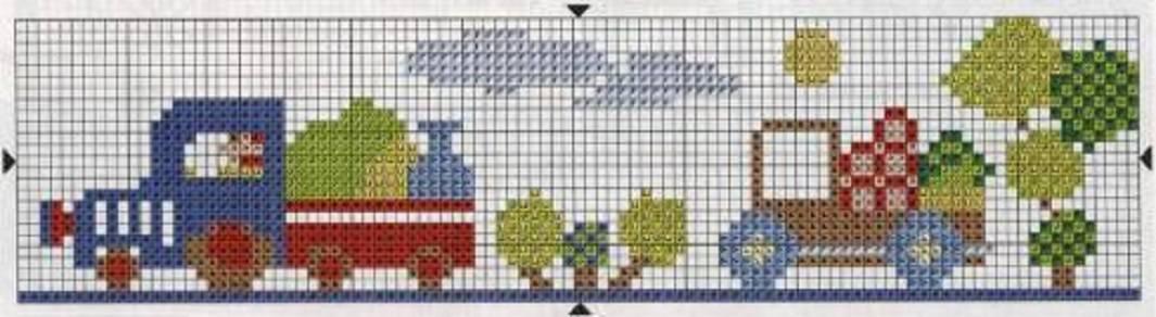 dibujos para bordados infantiles en punto de cruz :: bordado en