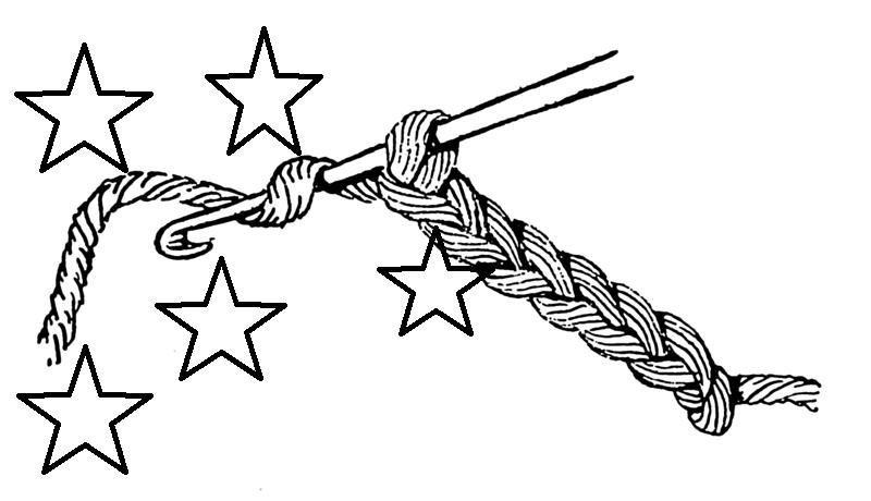 Punto estrella a crochet paso a paso - Innatia.com