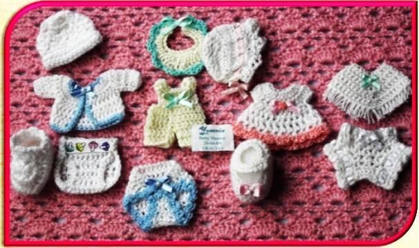 6 recuerdos para bautizos tejidos a crochet de la mano de Patty ...
