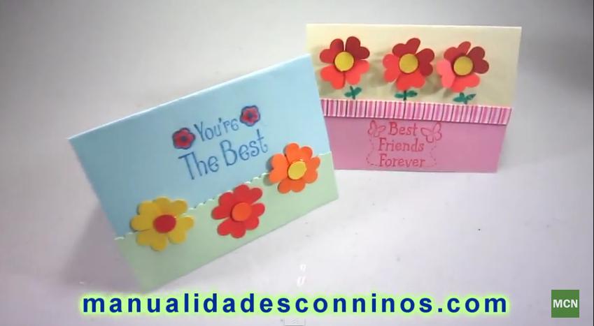 Como Hacer Tarjetas Faciles Y Rapidas De Felicitaciones Con Flores