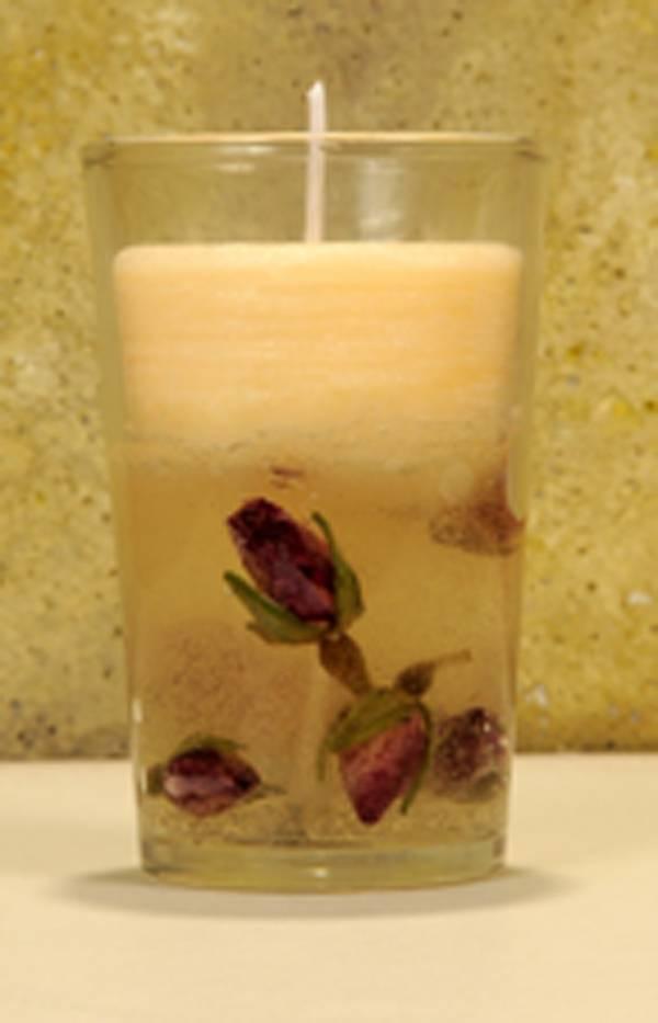cmo hacer velas de gel con flores